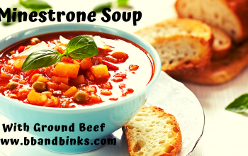 Easy and Delectable Minestrone Soup with Ground Beef by BB